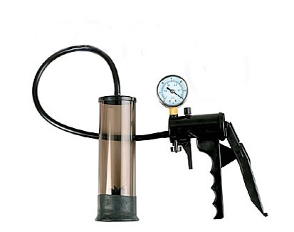 penis pump with a safety gauge